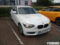 BMW 1 SERIES 116D  WHITE 5 DOOR.  2012 PLATE  [PRIVATE PLATE ON ] CAT D REPAIRED